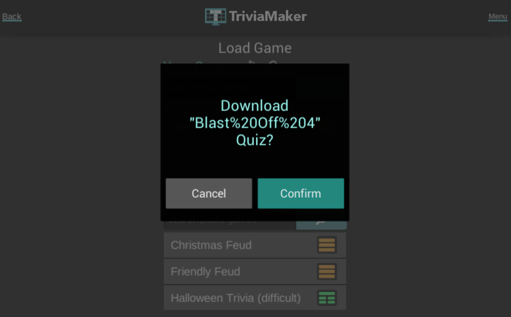 Sharing Your Game's URL - TriviaMaker - Quiz Creator