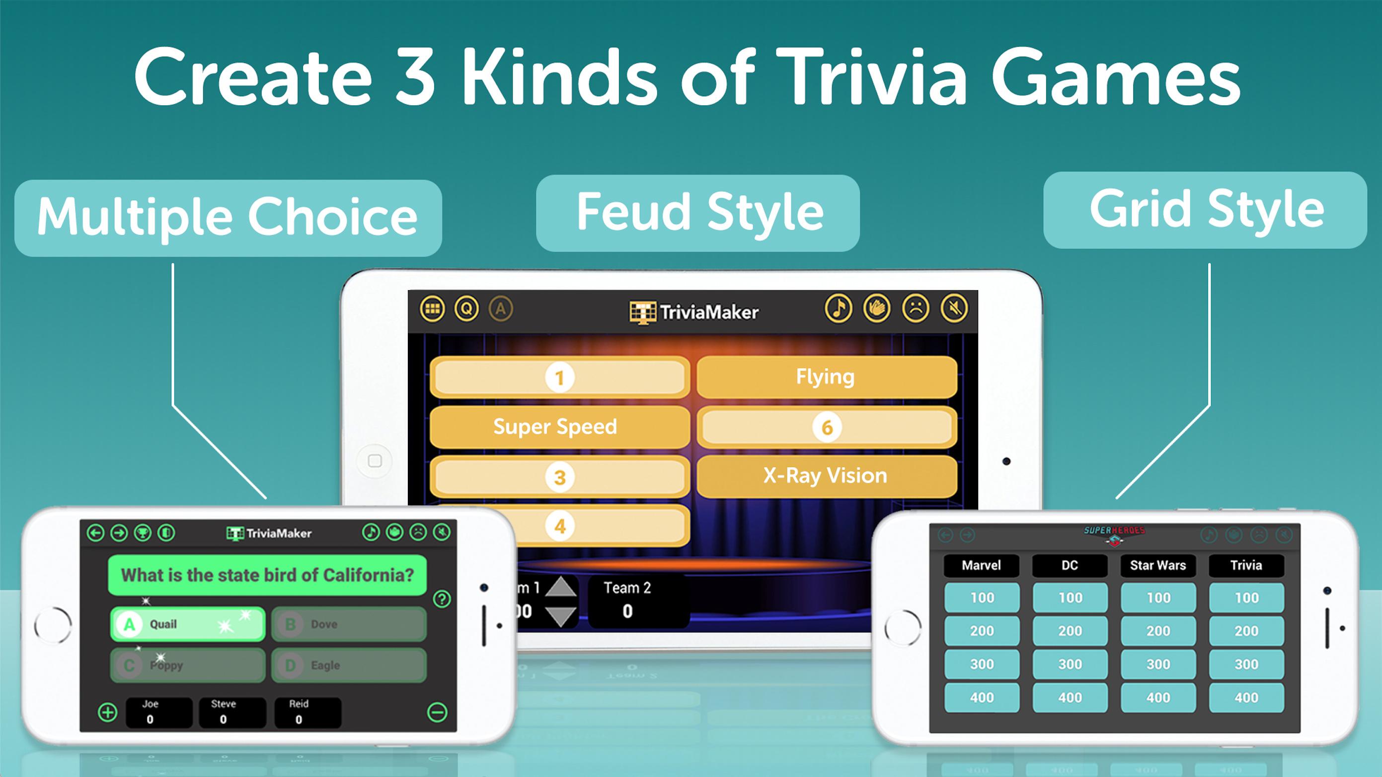 Triviamaker Quiz Creator Create Your Own Trivia Game Show