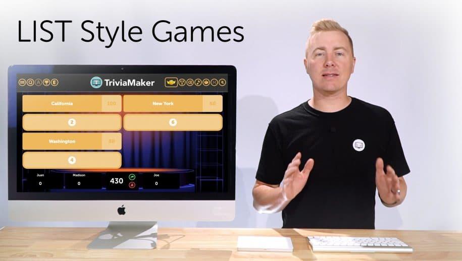 Create List Style Quiz : TriviaMaker