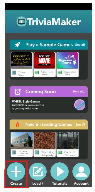 Custom Trivia Quiz Creator Mobile app