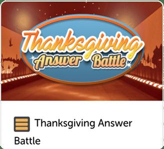 Thanksgiving answer battel trivia quiz